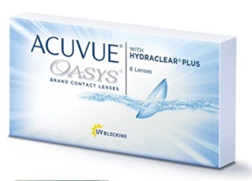 6 lēcu komplekts Acuvue Oasys (divu nedēļu/mēneša kontaktlēcas)